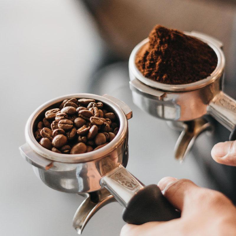 Coffee grind in handles