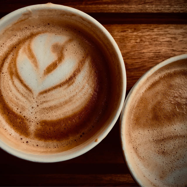 Coffee in takeaway cup